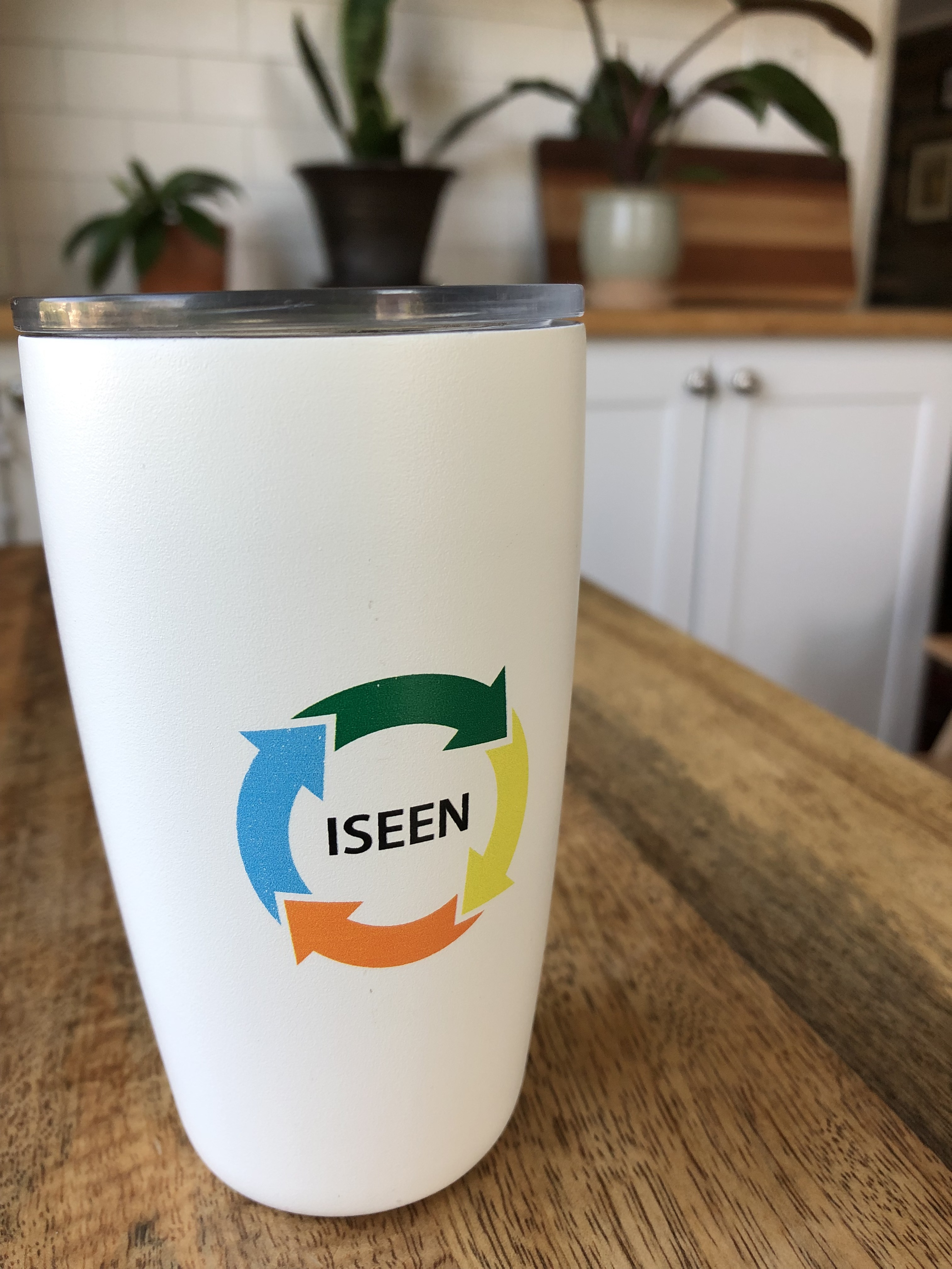 "ISEEN Mug that helped support ""The Women's Wilderness project in Boulder, CO"